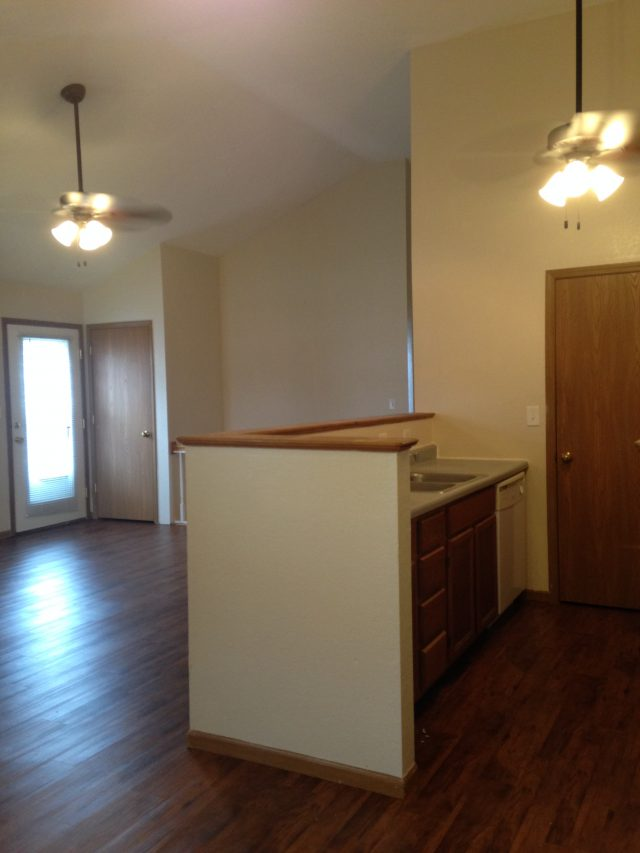 Worthington Floor Plan- From Dining area in to the Living room