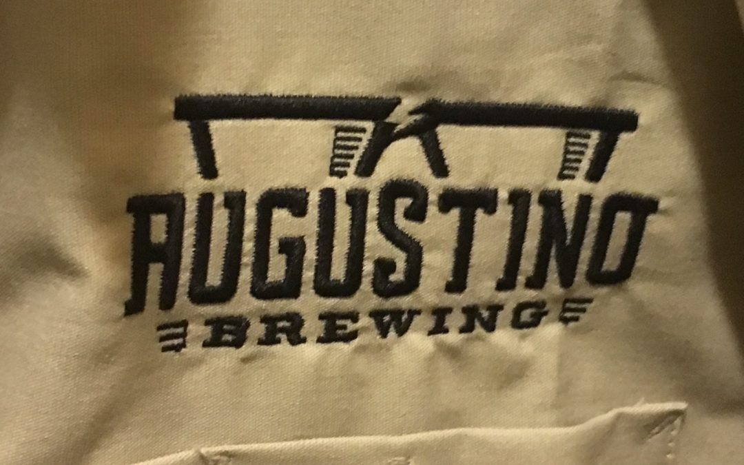 Embroidered Augustino Brewing Craft Beer and Coffee Work Shirt