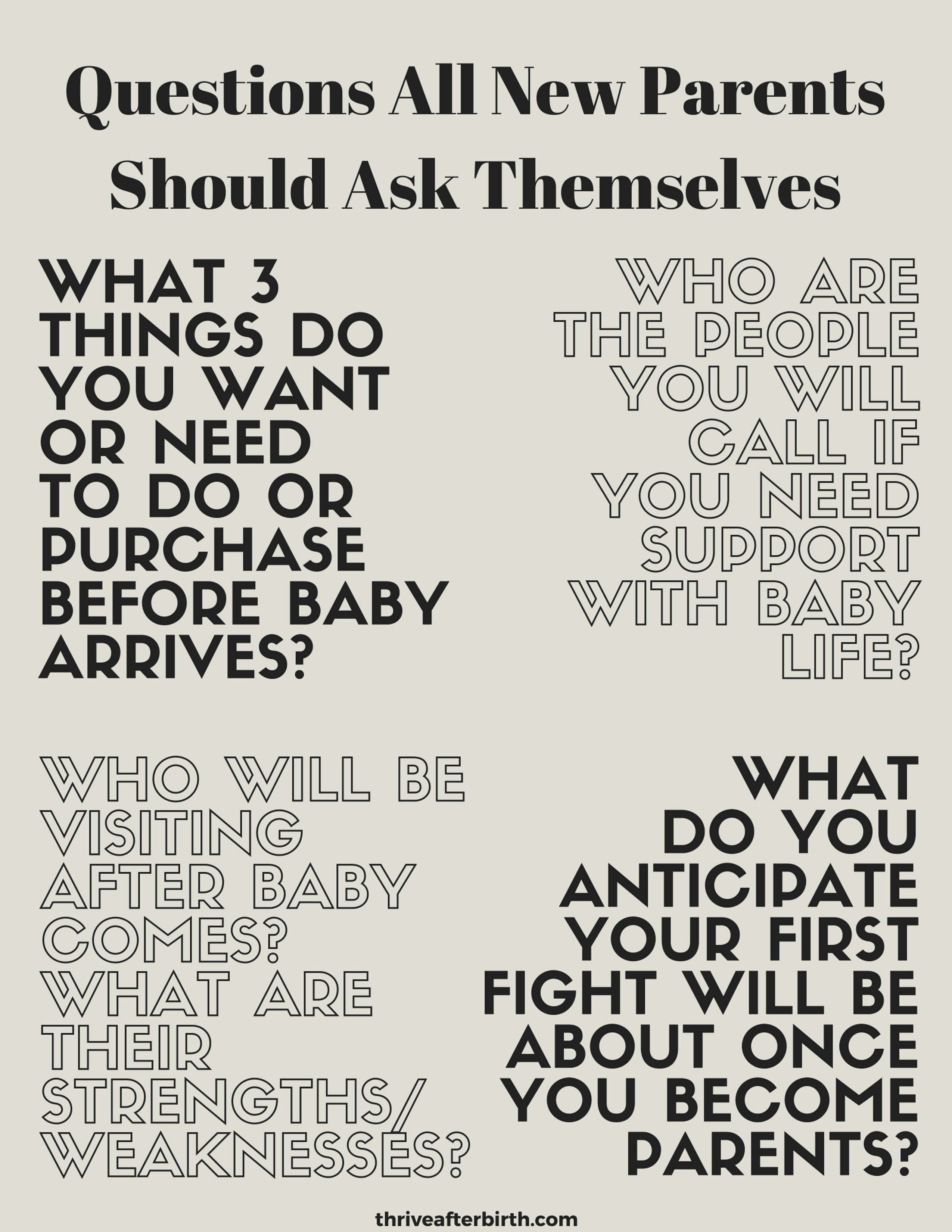 Questions All New Parents Should Ask Themselves