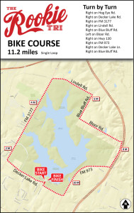 Rookie Triathlon Bike Course Map - Beginner Triathlon bike course 11 miles