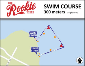 Rookie Triathlon Swim Course Map - Beginner Triathlon swim course 300meters