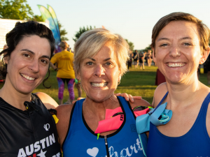 Get a group of friends together to complete a triathlon with you