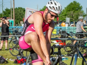 Getting into bike gear in transition