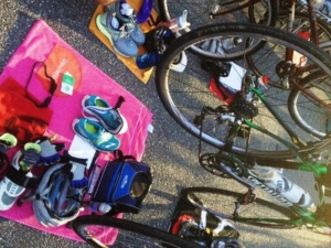 Good looking gear set up on race morning