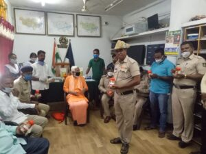 Distribution of Ayruvedic Medicines for Corona to Police Stations