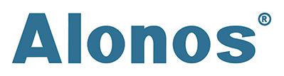 alonos logo blue on white