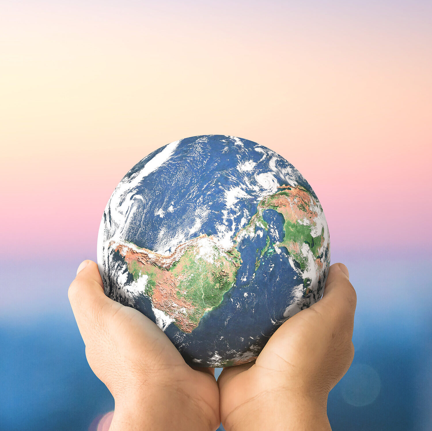 photo of world in hands