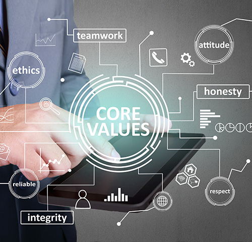 photo about core values