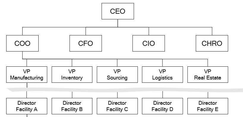 Illustration of organization structure
