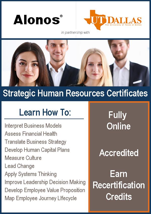 banner image for strategic HR program at UTD