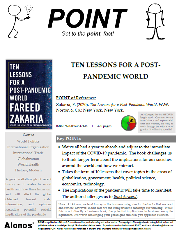 Cover image for POINT on the book Ten Lessons by Fareed Zakaria