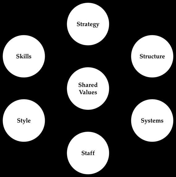 Graphic of McKinsey 7S Design Model