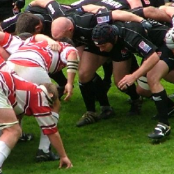 photo of a rugby scrum