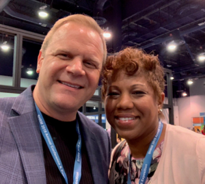 photo of dale and seraphia at SHRM