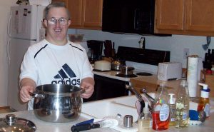 Ron in his new kitchen at Stanwood site for wb2