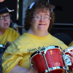 Sandee Playing Drums