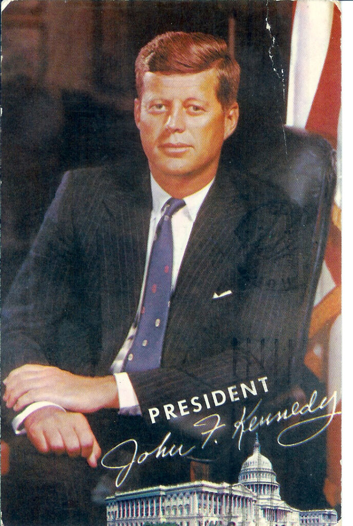 USA John F Kennedy protrait post card
