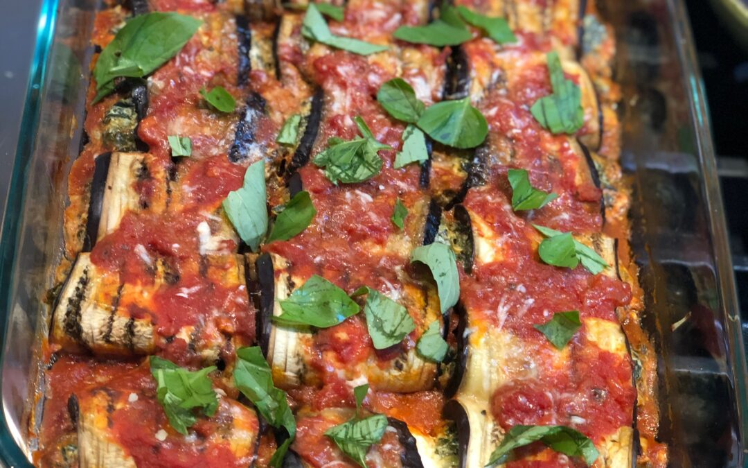 Simple Baked Eggplant Rollatini