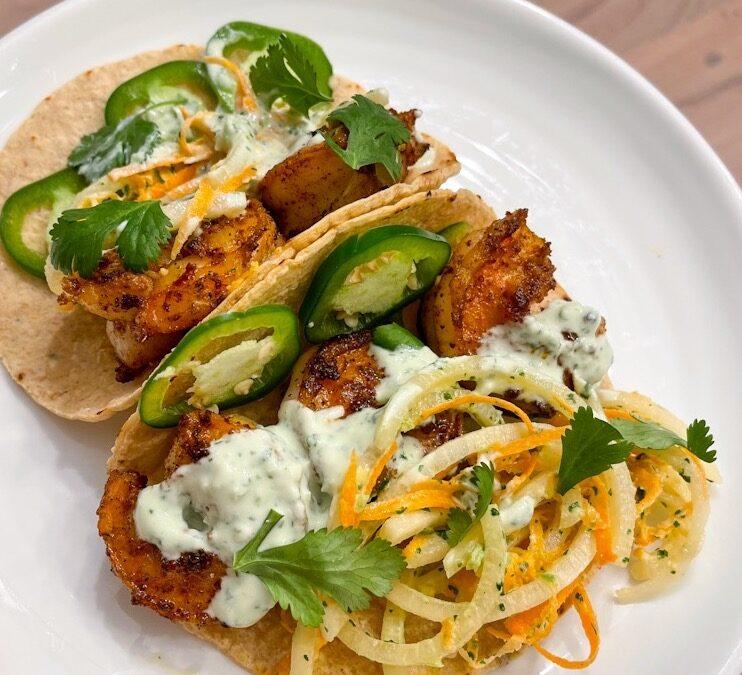 The BEST Shrimp Tacos