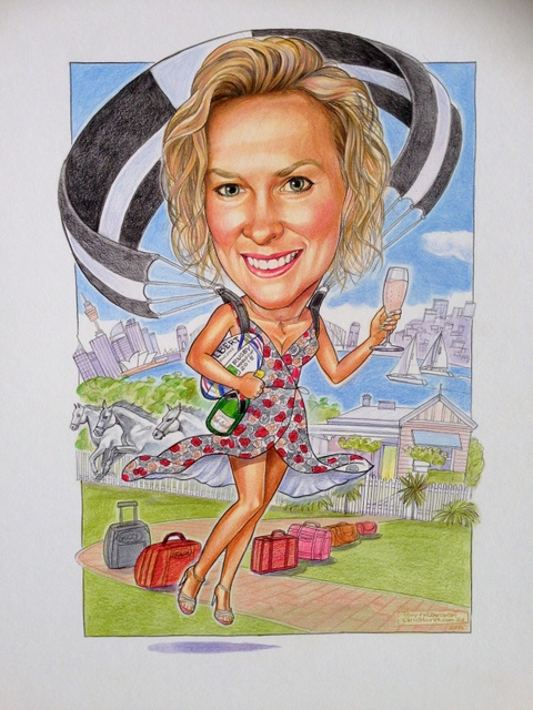 Angeline's 50th Birthday Caricature