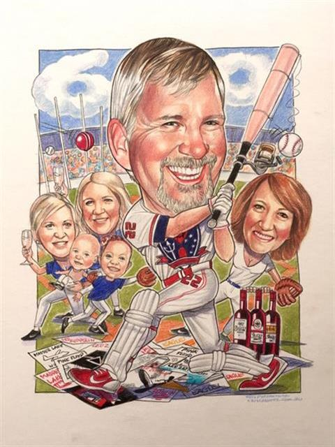 Baseball Sports Caricature