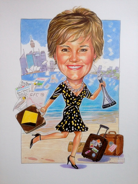 CBA Executive Leaving Gift Caricature