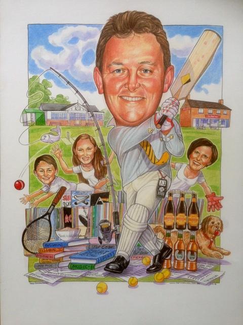 Cricket Sports Caricature