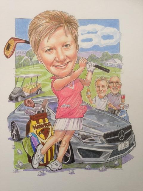 Golf Sports Caricature