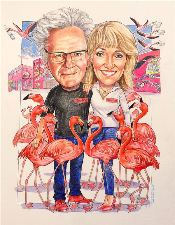 Pippa and Ron. Founders of the famous MIAMI AD SCHOOL which has schools all over the world