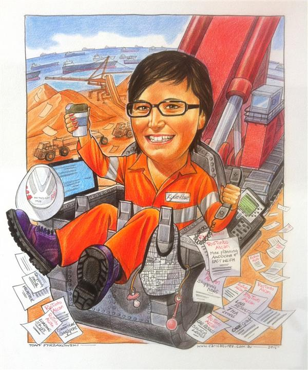 Rio Tinto leaving gift caricature