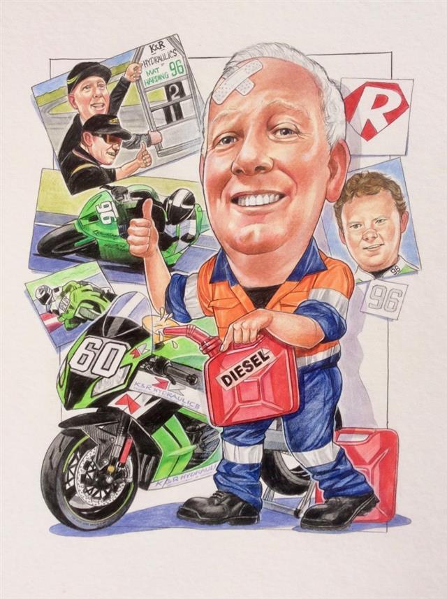 Robbie Diesel, superbike sponsor
