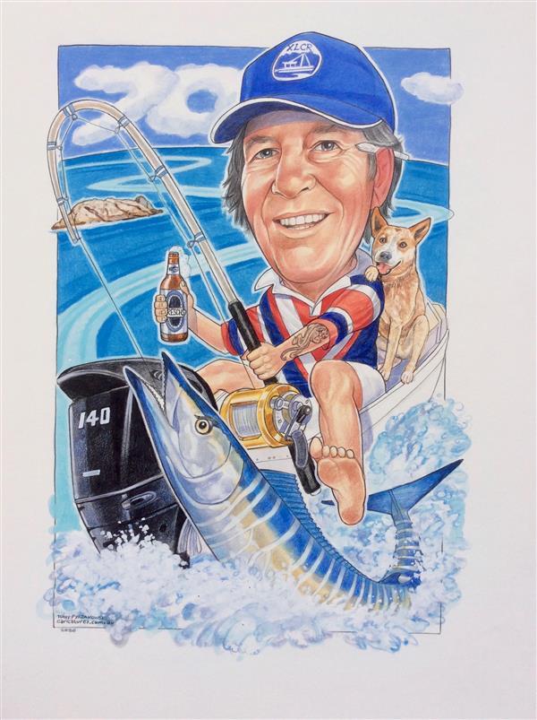 Steve's 70th birthday caricature