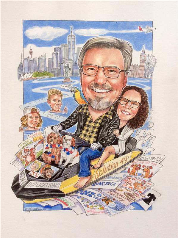 KPMG executive retirement caricature