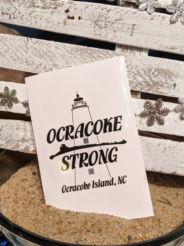 Ocracoke Strong - Sticker