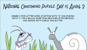 Snail does a crossword puzzle