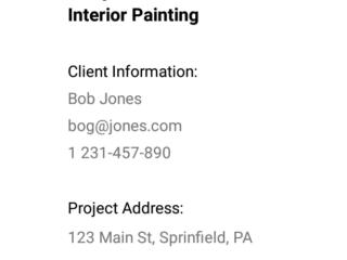 Paint Estimating App