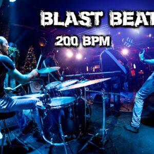 Blast Beat Drum Loops 200 bpm