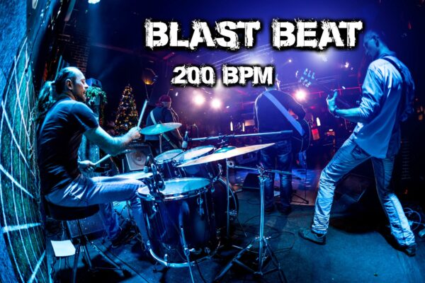 Blast Beat Drum Loops 200 bpm