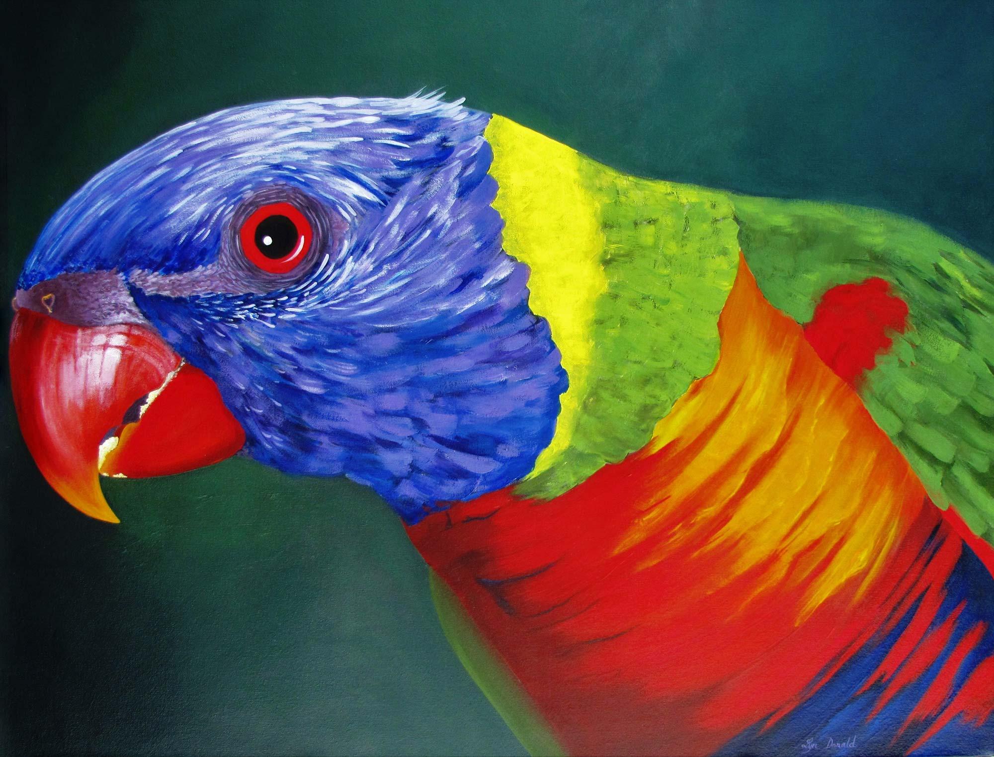 Lyn Donald - Art Teacher - Colours of the Rainbow #1