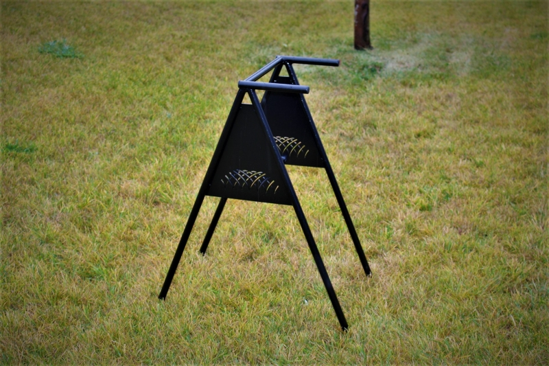 A-Frame Round Tube Bag Stand -Turning Stone