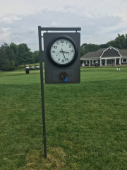 Clock Signs for Golf Courses -Green Brook CC