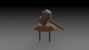 Judge's Gavel Tee Marker