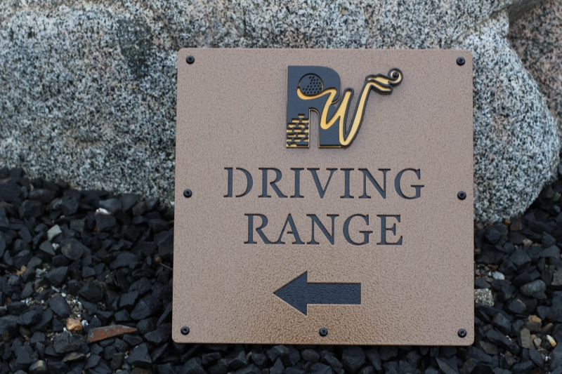 Golf Course Directional Signs -Rockwind