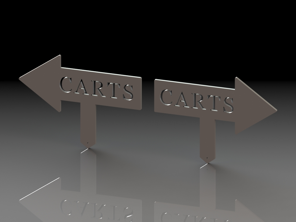 Left & Right Carts Arrows