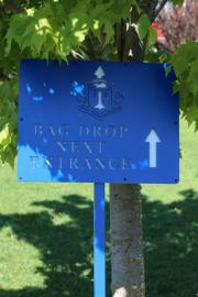 Golf Course Directional Sign -Rhode Island CC