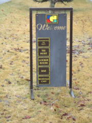 Golf Hanging Info Board -The Gallery