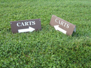 Lakewood cart sign