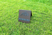 MEMBERS A-FRAME DIRECTIONAL SIGN -TWIN DOLPHINS