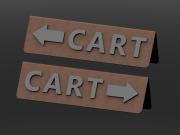 Small Cart Sign Right & Left Arrow