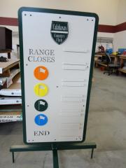 Diving Range Sign